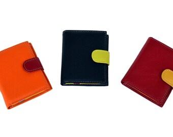 Women's Leather Rainbow Color Wallet (Medium Size p-1255)