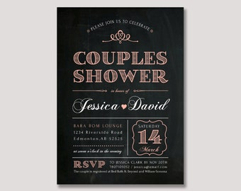 Printable Couples Shower Invitation, Couples Wedding Shower Invite - WDS03