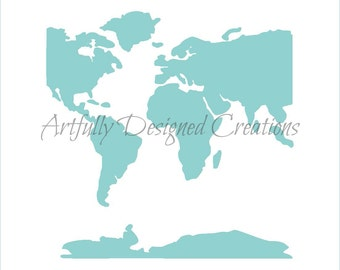 World Map Background Stencil