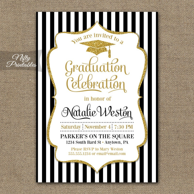 Graduation Invitation Printable Graduation Party Invites – Grad Party Invites