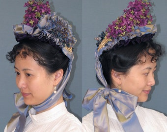 Late Victorian Small Bonnet Hat Pattern