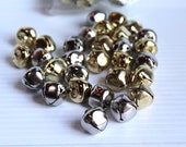 JINGLE BELLS supply, Gold jingle bells, Silver jingle bells, 20mm bells, Christmas craft supply, arts and crafts supply, loose bells