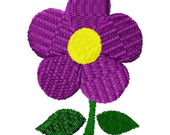 Machine Embroidery Simple Flower