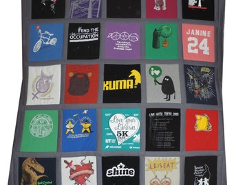 Custom Tshirt Quilt: 25 T-shirts, Full/Queen Size