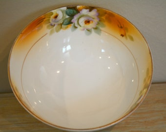 Nippon, Mayonnaise Bowl, Footed Nippon Bowl, Antique Nippon, Collectible Dishes, Antique, Japan, Gifts, Condiment Dish, Hand Painted Nippon