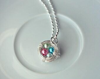 Handmade Birthstone Nest Necklace