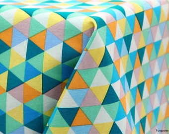 Oxford Cotton Fabric Mini Triangle in 2 Colors By The Yard