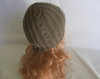 baby Hat knit ribbed wool braid