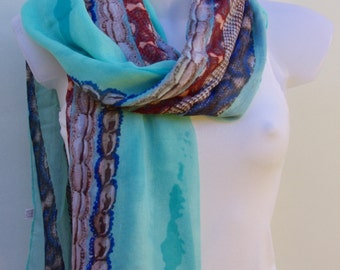 Blue Scarf,Scarves,Fall Scarf,Scarves For Women,Spring Summer Scarf,Unique Scarves,Womens Scarves,Summer Shawl,Gift For Her,Fashion Scarves