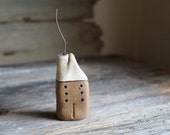 Miniature Cob House - Hand Sculpted Clay House - Rustic Decor -Ready To Ship