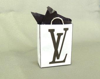 shopping bag Louis Vuitton dollhouse miniature 1/12 scale