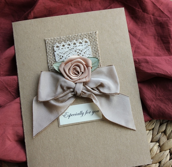 Handmade Card 13th Anniversary Gift for Her Wife by Thymerose