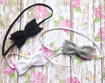 Newborn Mini Felt Bow girls