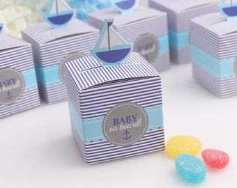 10pc Blue Baby Shower - Boy Birthday party favour boxes