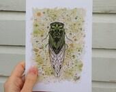 "Greeting Card - ""Cicada"""