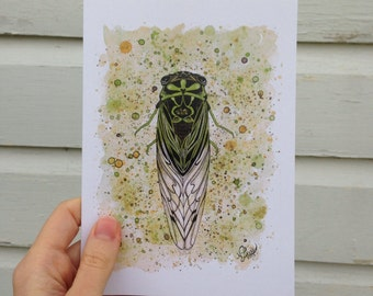 "Greeting Card - ""Cicada"""