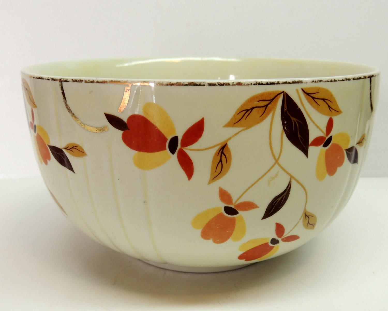 Vintage Hall s Superior Quality Kitchenware Autumn Leaf