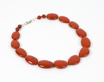 Red River Jasper Necklace, Natural Gemstone Necklace, Handmade Gemstone Jewelry, Gemstone necklace, Handmade Jewelry, Gemstone Jewelry