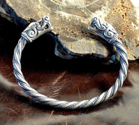 VIKING plata pulsera de Burg Suecia Museo réplica vikingos joyería joyería pagano brazaletes brazalete pulsera Norse