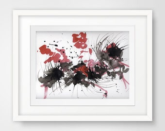 modern bedroom decor, abstract bedroom art, modern giclee print, modern art, abstract art, living room decor