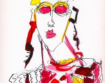 mid century modern, abstract print, abstract art,  modern abstract, abstract giclee, abstract wall decor, abstract wall art