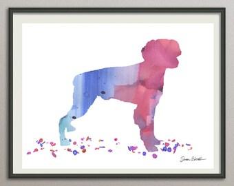 brittany spaniel dog art print watercolor print silhouette print poster wall art decor drawing, dog wall art poster watercolor