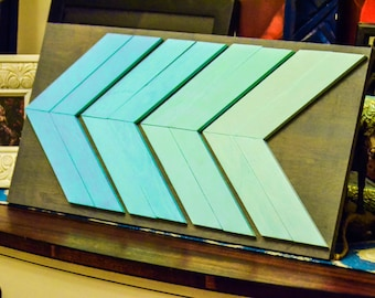 Turquoise Chevron Wall Hanging