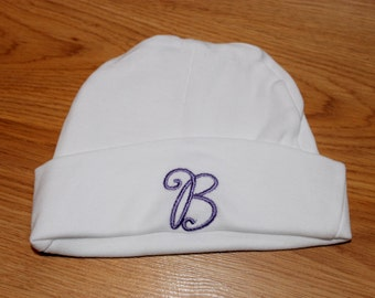 Personalized Monogram Embroidered Baby Hat/Beanie with Initial