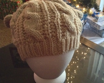 Handmade Knitted Adult Hats with Ears