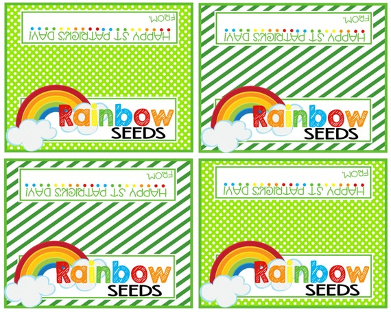 St Patrick's Day Bag Toppers - Rainbow Seeds
