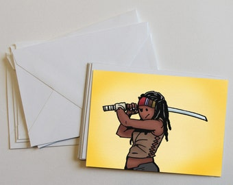 Michonne - motivational, Walking Dead Card