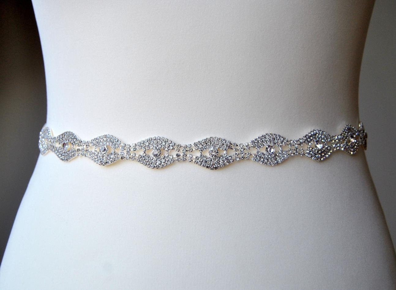 Dress sash belt wedding dress bridal sashwedding rhinestone for Rhinestone sash for wedding dress