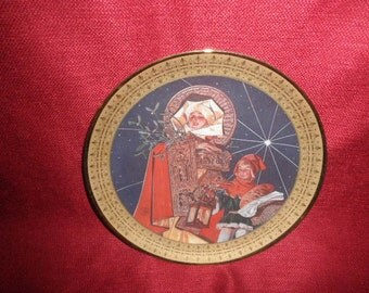 "Christmas Plate by J.C. Leyendecker ""Silent Night"""