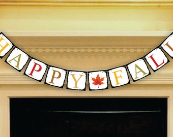 Happy Fall Banner Thanksgiving Banner Fall Decoration Banners