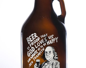 32 oz. Benjamin Franklin Growler