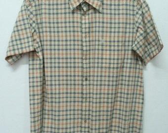 Daks Mens Shirt Checks Pattern Made In Japan