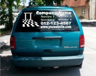 Car Truck Van Door Decals Vinyl Letters Sticker Custom - Custom car decals businesswindow decals