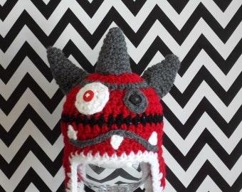 Monster hat red - red Monster Cap