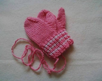 Traditional Baby mittens on a string!