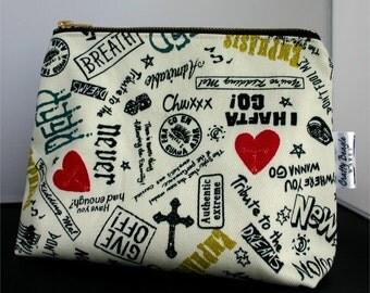 Zipper Pouch, Cosmetic Bag, Makeup Bag