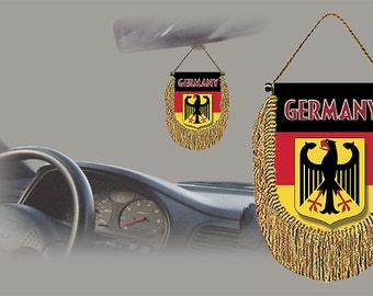 Germany rear view mirror world flag car banner pennant