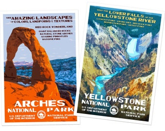 Get 2 National Park Posters, Save 10 Bucks, Free Shipping