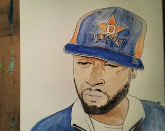 Watercolor painting , J dilla