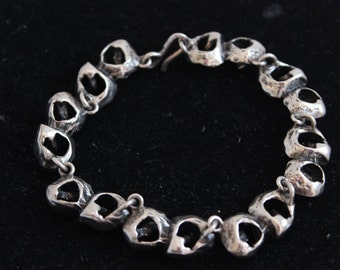 Sterling Silver Dental Filing Teeth Bracelet Weird 925 7.5 inches