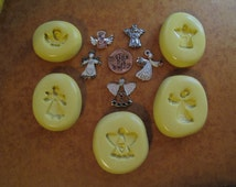 flying angel molds SILICONE flexible mold, Christmas Silicone molds, resin mold, jewelry mold, cabochon mold, PMC mold, crafts mold