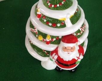Vintage Kurt Adler Christmas Tree Cookie Jar