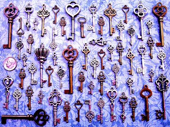 68 Bulk Lot Skeleton Keys Replicas