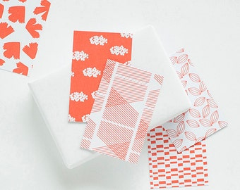 gift tags red, 10 cards