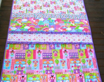 Baby Girl Quilt, Princess Quilt, Handmade Quilt Australia