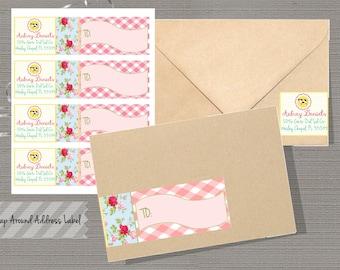 Wrap Around Return Address Labels, Wrap around address Labels, Farm Address Labels, Personalized, Printable-Farm Collection